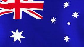 Bandera nacional de Australia que agita en viento libre illustration