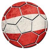 Bandera nacional de Austria del balón de fútbol Bola del fútbol de Austria fotografía de archivo libre de regalías