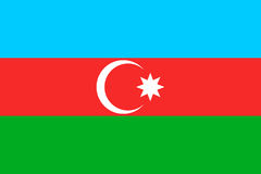 Bandera nacional de Azerbaijan, ejemplo del vector libre illustration