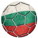 Bandera nacional de Bulgaria del balón de fútbol Bola búlgara del fútbol foto de archivo