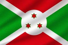 Bandera nacional de Burundi ilustración del vector