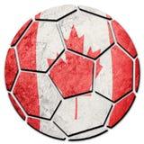 Bandera nacional de Canadá del balón de fútbol Bola del fútbol de Canadá foto de archivo libre de regalías