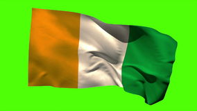 Bandera nacional de Costa de Marfil que sopla en la brisa libre illustration