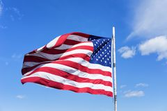 Bandera nacional de Estados Unidos Foto de archivo