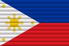 Bandera nacional de Filipinas stock de ilustración