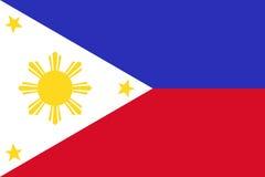 Bandera nacional de Filipinas Ilustración del vector Imagenes de archivo
