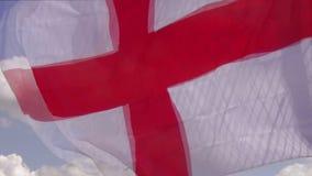 Bandera nacional de Inglaterra almacen de metraje de vídeo
