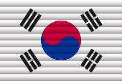 Bandera nacional de la Corea del Sur stock de ilustración