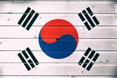 Bandera nacional de la Corea del Sur fotografía de archivo