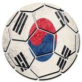 Bandera nacional de la Corea del Sur del balón de fútbol Bola del fútbol de la Corea del Sur imágenes de archivo libres de regalías