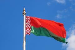 Bandera nacional de la República de Belarús Fotos de archivo