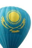 Bandera nacional de la República de Kazajistán Fotografía de archivo libre de regalías