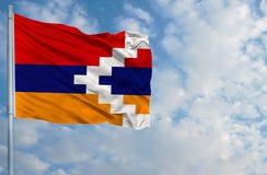 Bandera nacional de la república de Nagorno Karabaj Imagen de archivo libre de regalías