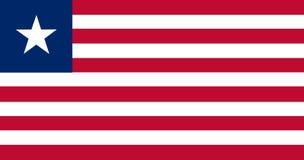 Bandera nacional de Liberia Fondo con la bandera de Liberia stock de ilustración