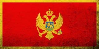 Bandera nacional de Montenegro Fondo del Grunge libre illustration