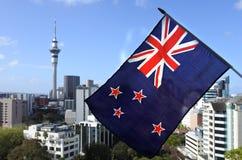 Bandera nacional de Nueva Zelanda Foto de archivo libre de regalías