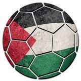 Bandera nacional de Palestina del balón de fútbol Bola del fútbol de Palestina fotos de archivo