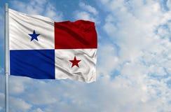 Bandera nacional de Panamá Imágenes de archivo libres de regalías