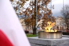 Bandera nacional de Polonia imagenes de archivo
