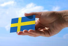 Bandera nacional de Suecia Fotos de archivo libres de regalías
