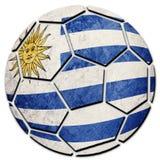 Bandera nacional de Uruguay del balón de fútbol Bola del fútbol de Uruguay imagen de archivo