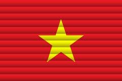 Bandera nacional de Vietnam libre illustration