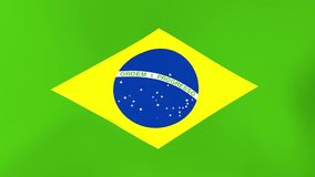 Bandera nacional del Brasil que agita en viento libre illustration