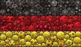 Bandera nacional del concepto de diseño del ejemplo del mosaico de los balones de fútbol de República Federal de Alemania Fotos de archivo libres de regalías