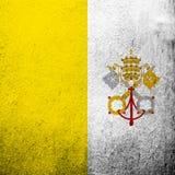 Bandera nacional del Estado de la Ciudad del Vaticano Fondo del Grunge ilustración del vector