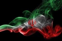 Bandera nacional del humo de Irán Fotos de archivo libres de regalías