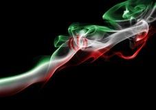 Bandera nacional del humo de Irán Fotografía de archivo