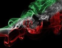Bandera nacional del humo de Irán Imagen de archivo
