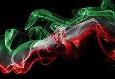 Bandera nacional del humo de Irán Fotos de archivo