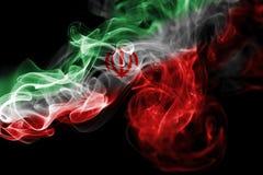 Bandera nacional del humo de Irán Imágenes de archivo libres de regalías