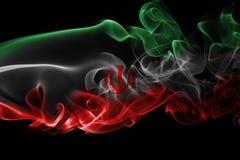 Bandera nacional del humo de Irán Fotografía de archivo libre de regalías