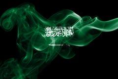 Bandera nacional del humo de la Arabia Saudita Foto de archivo libre de regalías