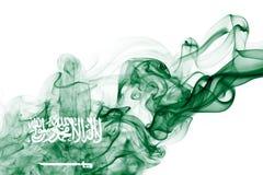 Bandera nacional del humo de la Arabia Saudita Imágenes de archivo libres de regalías
