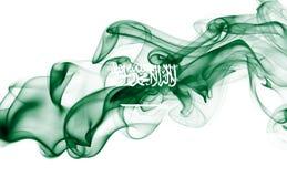 Bandera nacional del humo de la Arabia Saudita Imagen de archivo