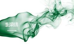 Bandera nacional del humo de la Arabia Saudita Imagenes de archivo