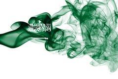 Bandera nacional del humo de la Arabia Saudita Imagen de archivo libre de regalías