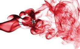 Bandera nacional del humo de Turquía Foto de archivo libre de regalías