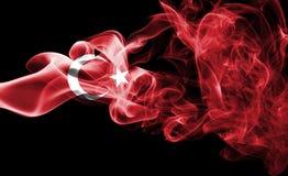 Bandera nacional del humo de Turquía Imagen de archivo libre de regalías