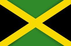 Bandera nacional del icono de la bandera de Jamaica Imágenes de archivo libres de regalías