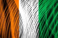 Bandera nacional del ` Ivoire de Cote d ilustración del vector