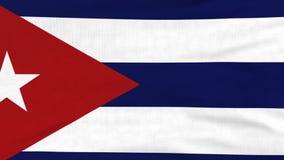Bandera nacional del vuelo de Cuba en el viento metrajes