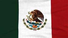 Bandera nacional del vuelo de México en el viento almacen de metraje de vídeo