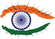 Bandera nacional india mostrada en forma de un ojo libre illustration