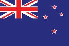 Bandera nacional Nueva Zelanda Bandera de Nueva Zelanda, colores oficiales Bandera nacional de Nueva Zelanda Ejemplo plano del ve stock de ilustración