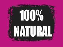 bandera natural del 100 por ciento Imagen de archivo