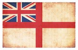 Bandera naval de la bandera de la bandera blanca de Gran Bretaña Imagenes de archivo
